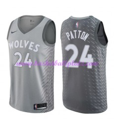 Minnesota Timberwolves Trikot Herren 2018-19 Karl Justin Patton 24# City Edition Basketball Trikots ..